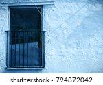 mediterranean rustic wall with... | Shutterstock . vector #794872042