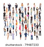 multitude big crowd diversity | Shutterstock . vector #79487233