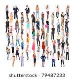 multitude big crowd diversity | Shutterstock . vector #79487233
