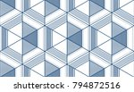 geometric 3d lines abstract... | Shutterstock .eps vector #794872516