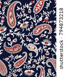 traditional indian paisley... | Shutterstock .eps vector #794873218