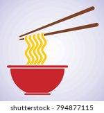 delicious noodle icon | Shutterstock .eps vector #794877115