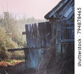 abandoned barn in france | Shutterstock . vector #794878465