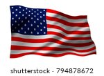 usa or america flag isolated on ... | Shutterstock . vector #794878672