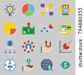 icons set about marketing. with ... | Shutterstock .eps vector #794880355