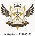 vintage decorative emblem... | Shutterstock .eps vector #794885122