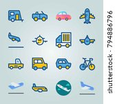 icon set about transport. with... | Shutterstock .eps vector #794886796