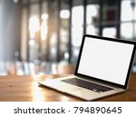 modern compute laptop with... | Shutterstock . vector #794890645