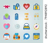 icon set about wedding. with... | Shutterstock .eps vector #794892892