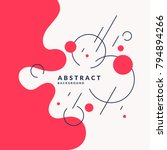 trendy abstract background.... | Shutterstock .eps vector #794894266