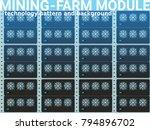 stylized flat design mining... | Shutterstock .eps vector #794896702