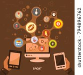 sport flat icon concept. vector ... | Shutterstock .eps vector #794896762