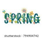 folk  anf fantasy beautiful... | Shutterstock .eps vector #794904742