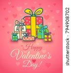 vector poster for valentine's...   Shutterstock .eps vector #794908702