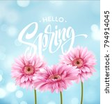 gerbera flower background and... | Shutterstock .eps vector #794914045