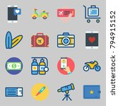 icons set about travel. with... | Shutterstock .eps vector #794915152
