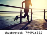 sporty fitness female runner... | Shutterstock . vector #794916532