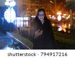 business woman using smartphone   Shutterstock . vector #794917216