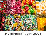 assortment of jellied colored... | Shutterstock . vector #794918035