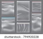 transparent nylon bag with lock ... | Shutterstock .eps vector #794920228