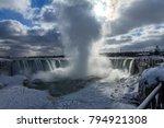 frozen niagara falls | Shutterstock . vector #794921308