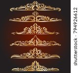 golden vintage elements and... | Shutterstock .eps vector #794926612
