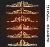 golden vintage elements and... | Shutterstock .eps vector #794926612