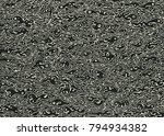 drawing halftone textures. hand ... | Shutterstock .eps vector #794934382