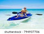 kids kayaking in ocean....   Shutterstock . vector #794937706