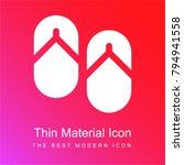 flip flops red and pink... | Shutterstock .eps vector #794941558