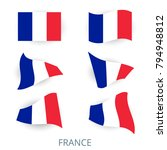 set of icons of the flag of... | Shutterstock .eps vector #794948812