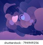 hi tech template  digital... | Shutterstock .eps vector #794949256