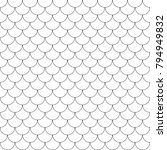 geometric fish scales chinese... | Shutterstock .eps vector #794949832