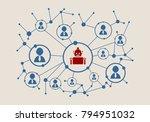 social media network. growth... | Shutterstock . vector #794951032