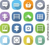 flat vector icon set   message... | Shutterstock .eps vector #794951566