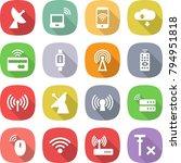 flat vector icon set  ... | Shutterstock .eps vector #794951818