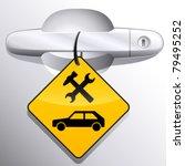 car door handle and car service ...   Shutterstock .eps vector #79495252