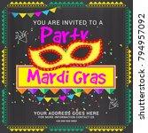 illustration of mardi gras... | Shutterstock .eps vector #794957092
