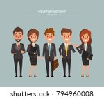 business people teamwork with... | Shutterstock .eps vector #794960008