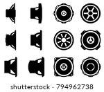 car audio vector icon set....
