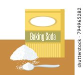 baking soda box. spoon with... | Shutterstock .eps vector #794965282