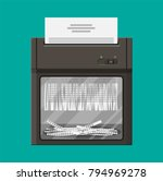 shredder machine. office device ... | Shutterstock .eps vector #794969278