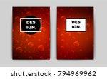 dark red vector banner for...