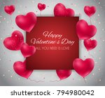 valentine's day heart  love and ... | Shutterstock .eps vector #794980042