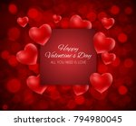 valentine's day heart  love and ... | Shutterstock .eps vector #794980045
