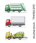 garbage truck  truck and tow... | Shutterstock .eps vector #794981395