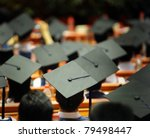 shot of graduation caps during... | Shutterstock . vector #79498447
