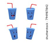 vector illustration with smiley ...   Shutterstock .eps vector #794987842