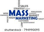 a word cloud of mass marketing...   Shutterstock .eps vector #794990095