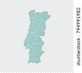 portugal map   high detailed... | Shutterstock .eps vector #794991982